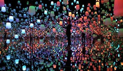 Mori Building Digital Art Museum in Tokyo, Japan