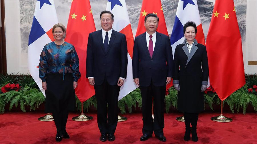 Chinese, Panamanian presidents congratulate each other on anniversary of diplomatic ties