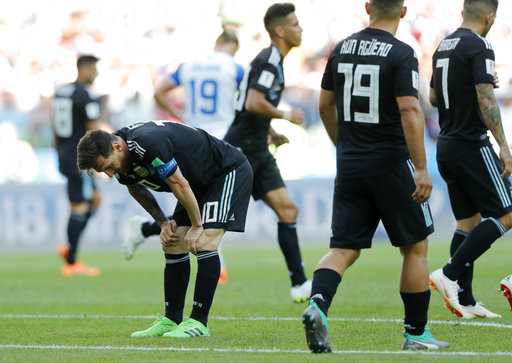 Argentina draw 1-1 with Iceland at World Cup