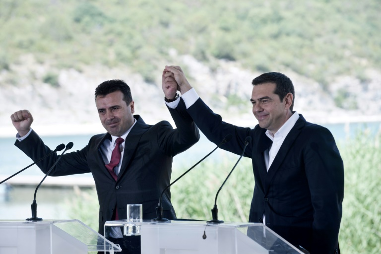Greece, Macedonia sign historic deal to end name row