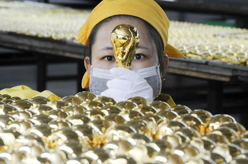 Chinese-made souvenirs dominate World Cup with high quality and innovative design