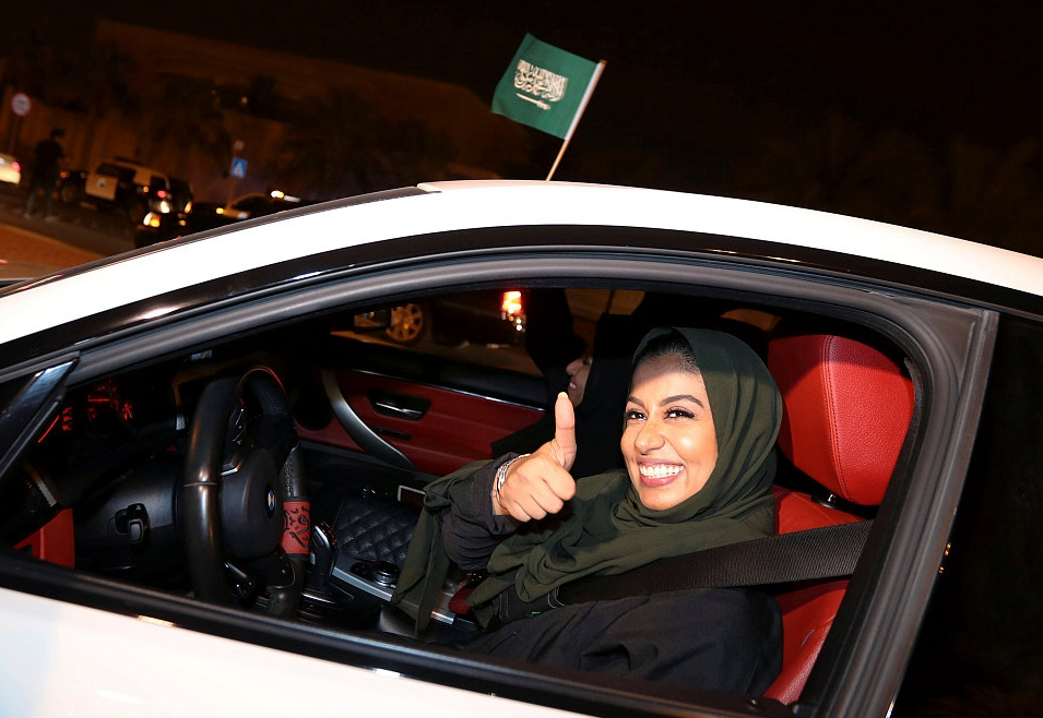 Saudi women hit the road as driving ban ends