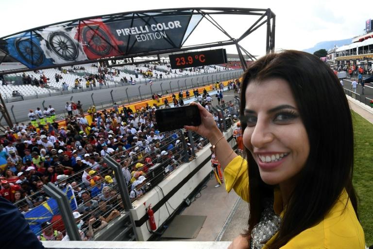 Saudi woman drives F1 car to mark end of ban