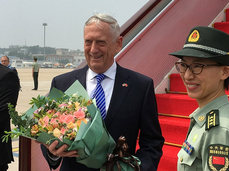 Wei Fenghe: Mattis' visit helps ease tension, promote mutual trust