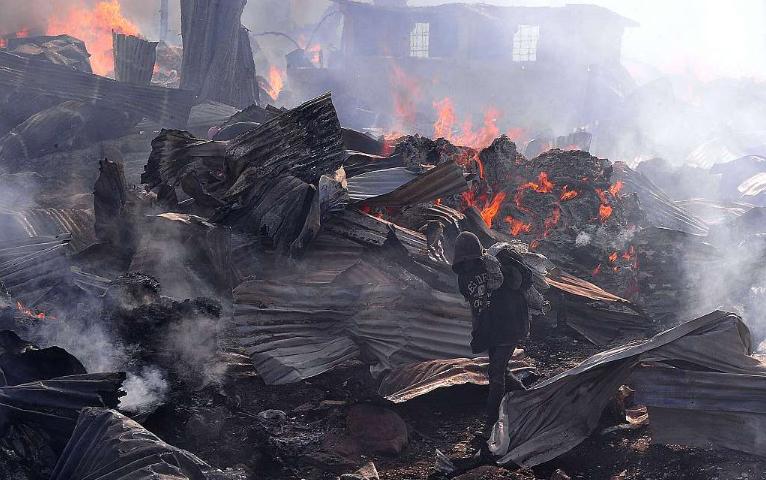 Market fire kills at least 15 in Kenya's capital