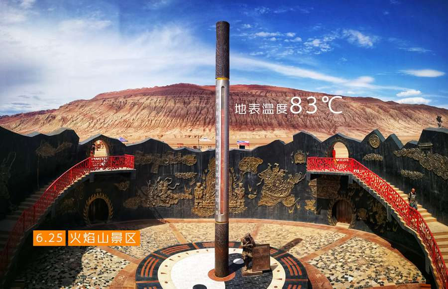 China's 'heat pole' bakes as temperature hits 83 C
