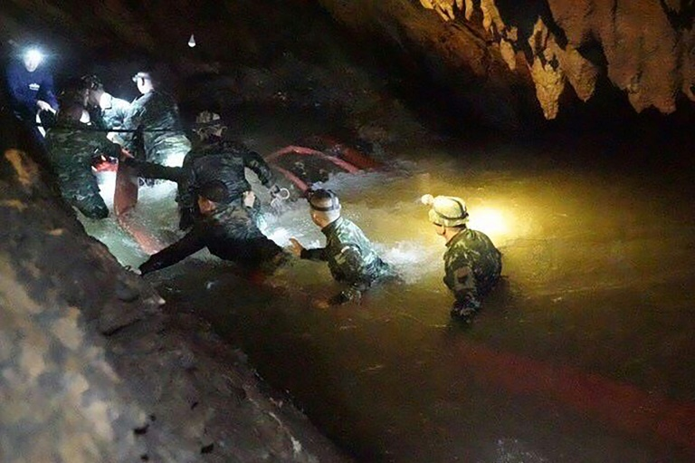 Joint rescue mission for young footballers trapped in Thailand cave still underway