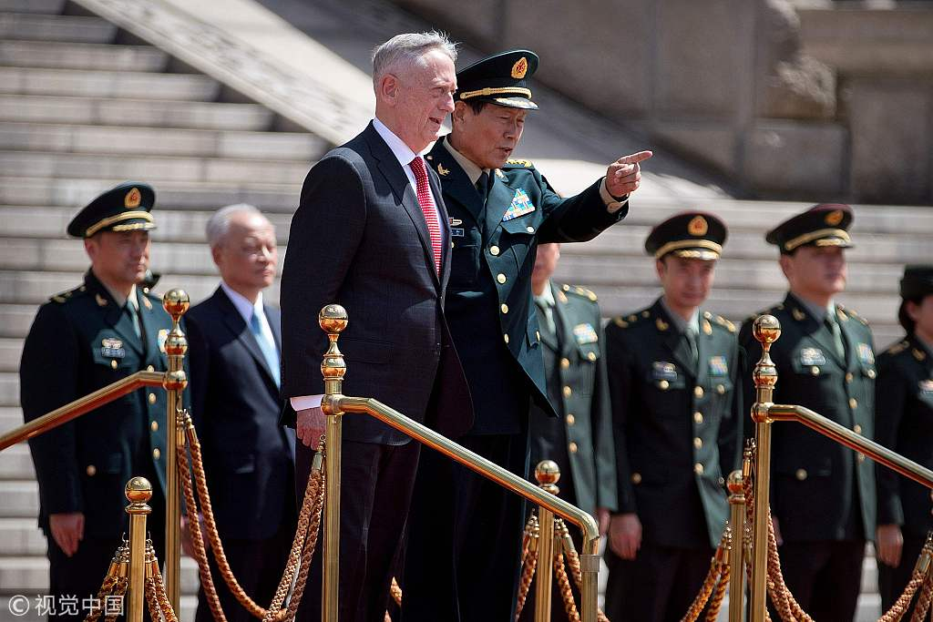 Can Mattis' visit build Sino-US military trust?