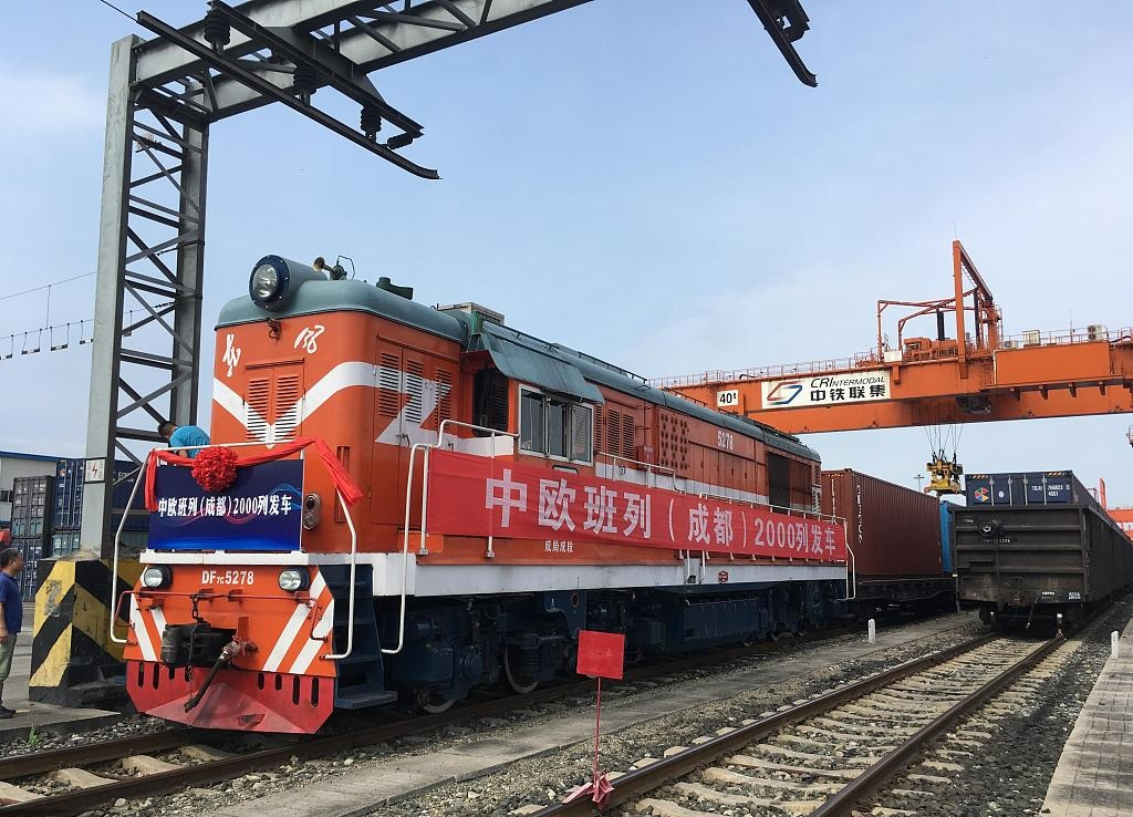 2000th China-Europe freight train sets off from Chengdu