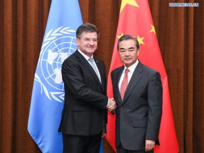 Chinese state councilor meets UN General Assembly President Miroslav Lajcak