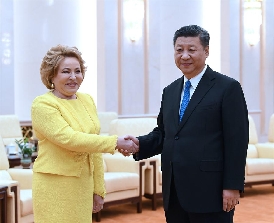 Chinese president meets Russian Federation Council speaker