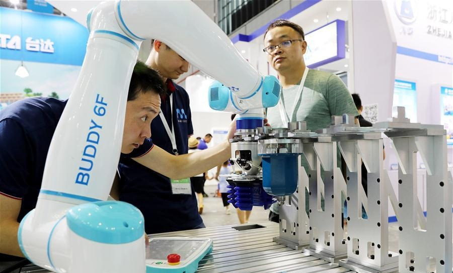 China International Robot Show 2018 held in Shanghai