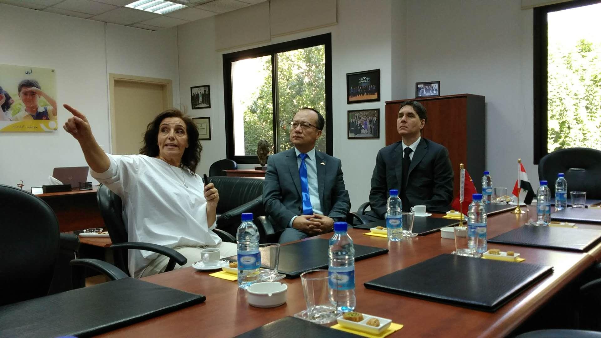 Chinese ambassador visits Syrian disability center