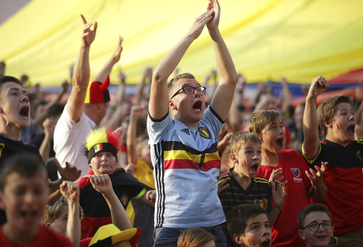 Cheers and tears as Belgium tops Brazil