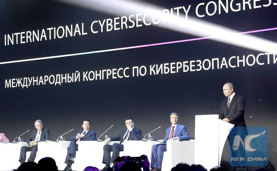 Putin calls on global community to jointly combat cyber threats