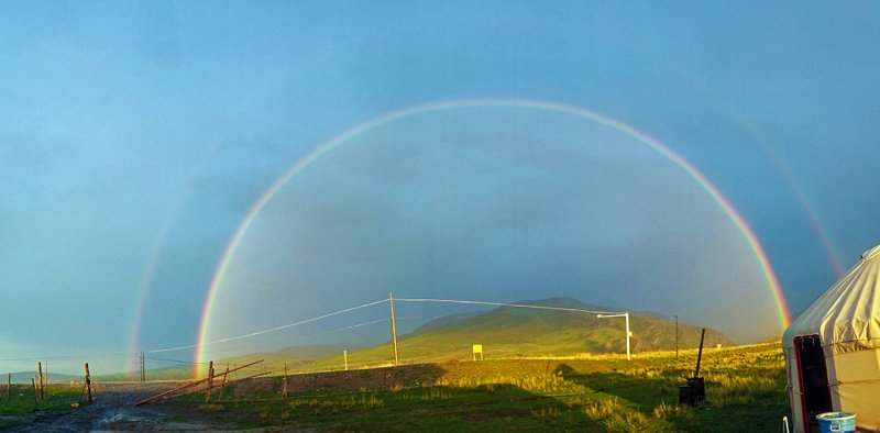 Chasing rainbows: a woman's attempt to forecast colors in the sky