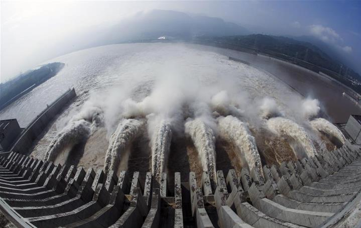 Water discharges from Three Gorges Dam