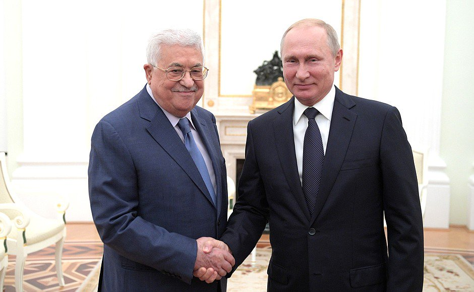 Putin, Abbas discuss bilateral ties, Middle East situation