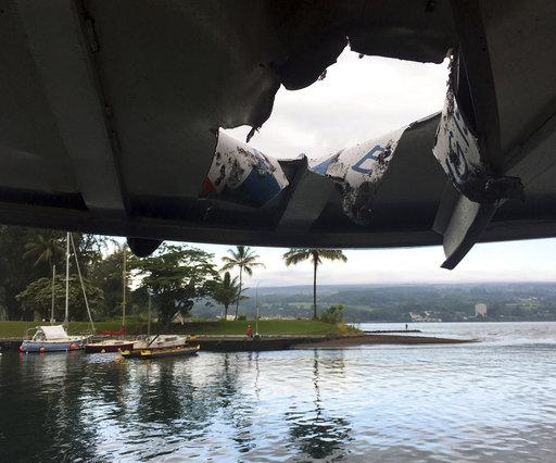 Exploding lava hits Hawaii tour boat, injuring 23