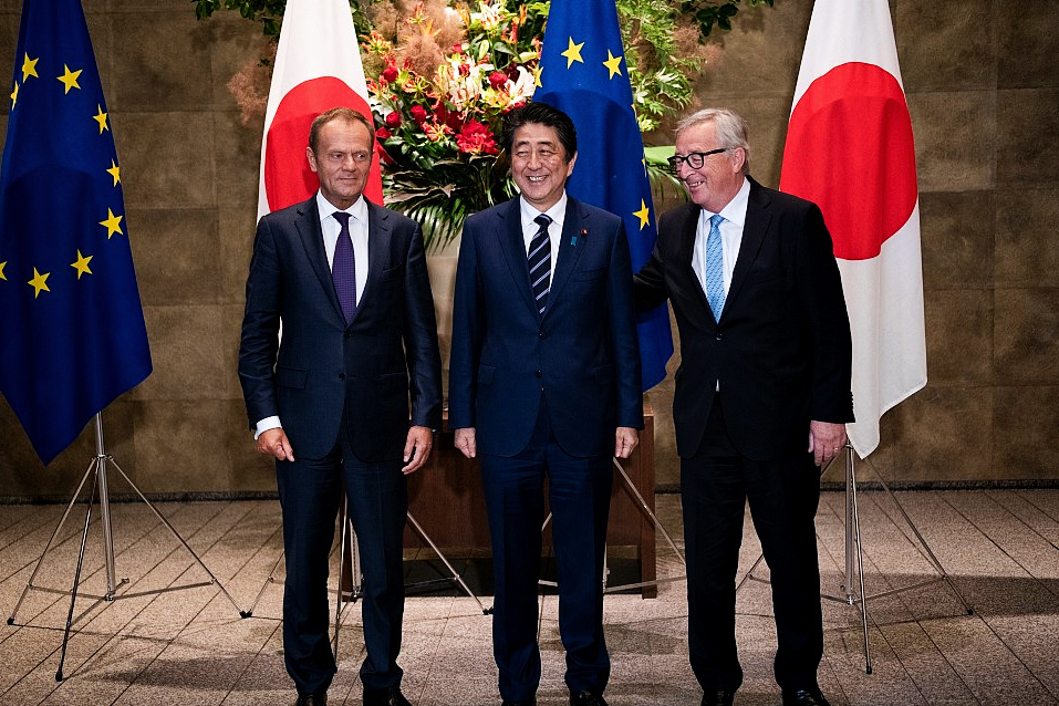 Europe, Japan sign massive free trade deal