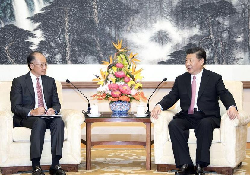 Chinese president meets World Bank president in Beijing