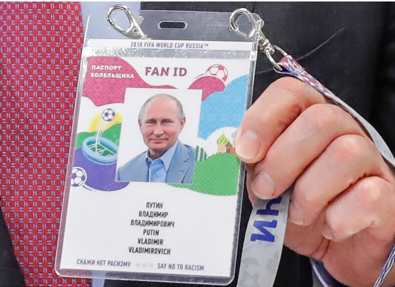 Putin backs using World Cup FAN ID technology at other events