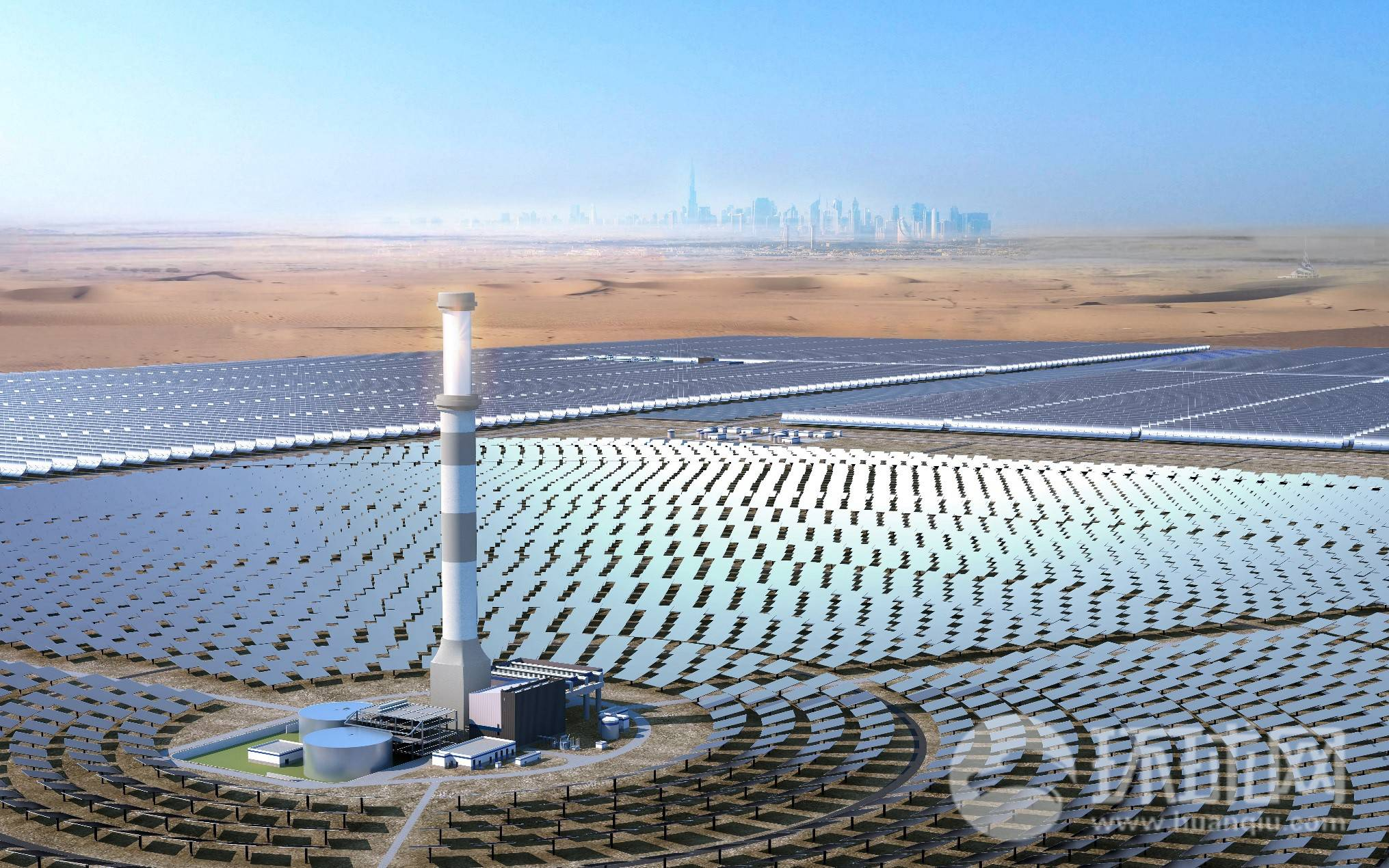 A glimpse of world's largest concentrated solar power project in UAE