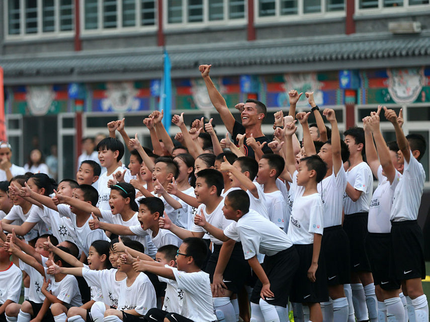 Ronaldo supports China's focus on grassroots football