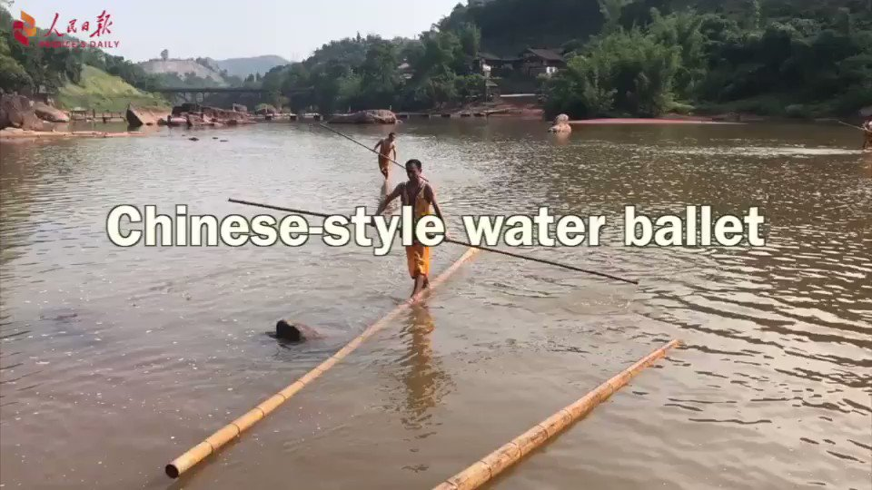 Chinese-style water ballet
