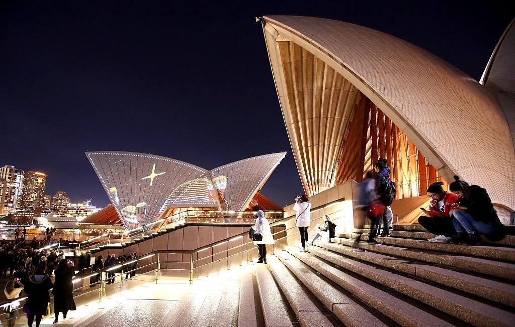 Sydney Opera House stages Badu Gili light show