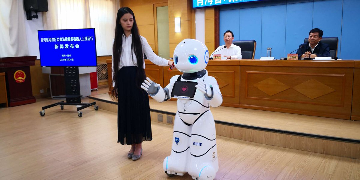 Robots help with public legal services on Chinese plateau