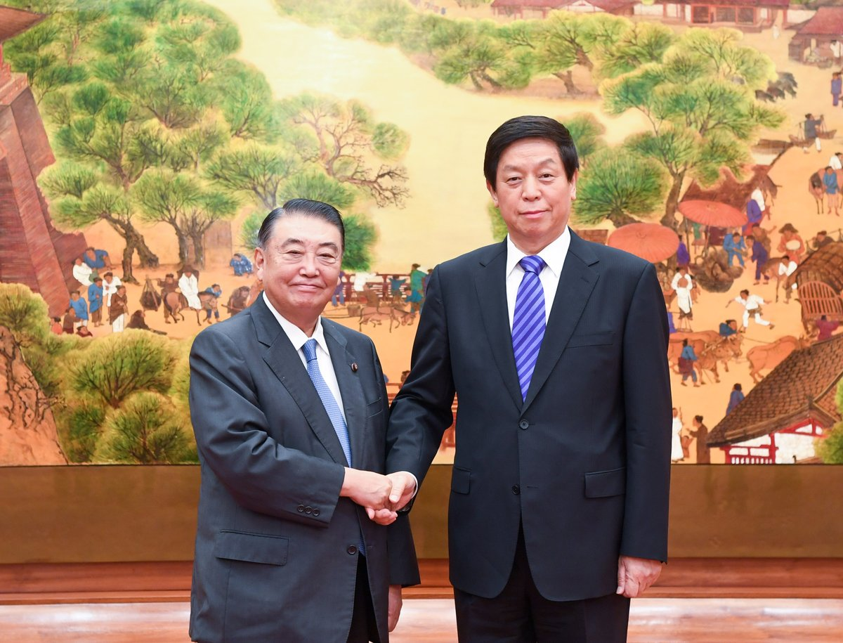 Top legislator calls for China-Japan ties to stay on right track