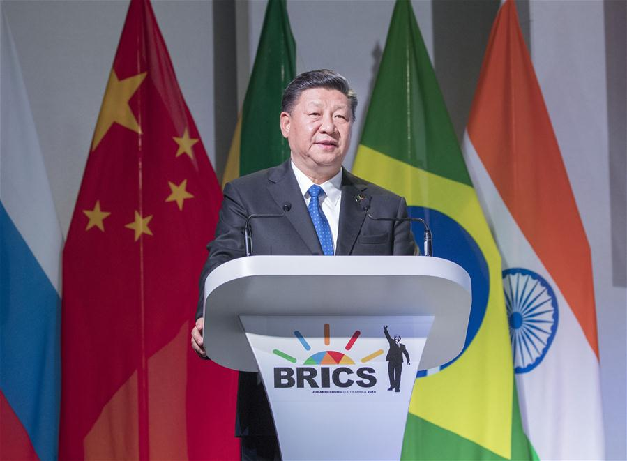 Xi calls on BRICS members to uphold multilateralism, improve global governance