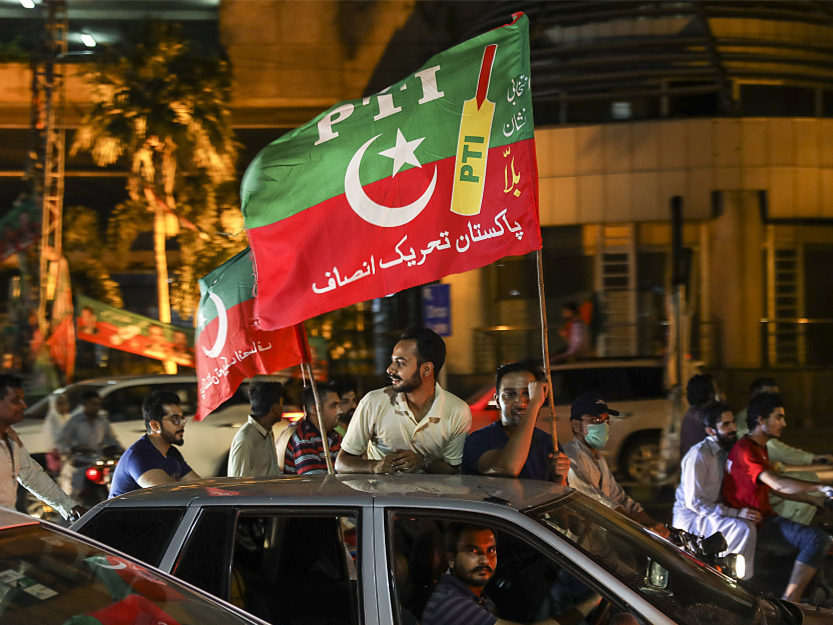Pakistan's Imran Khan declares victory, election results delayed