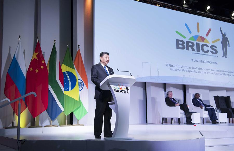 Full text of Chinese president's speech at plenary session of BRICS Johannesburg Summit