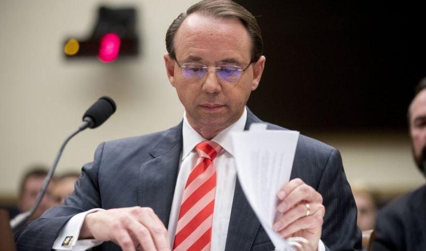 11 House Republicans seek impeachment of DOJ's Rosenstein