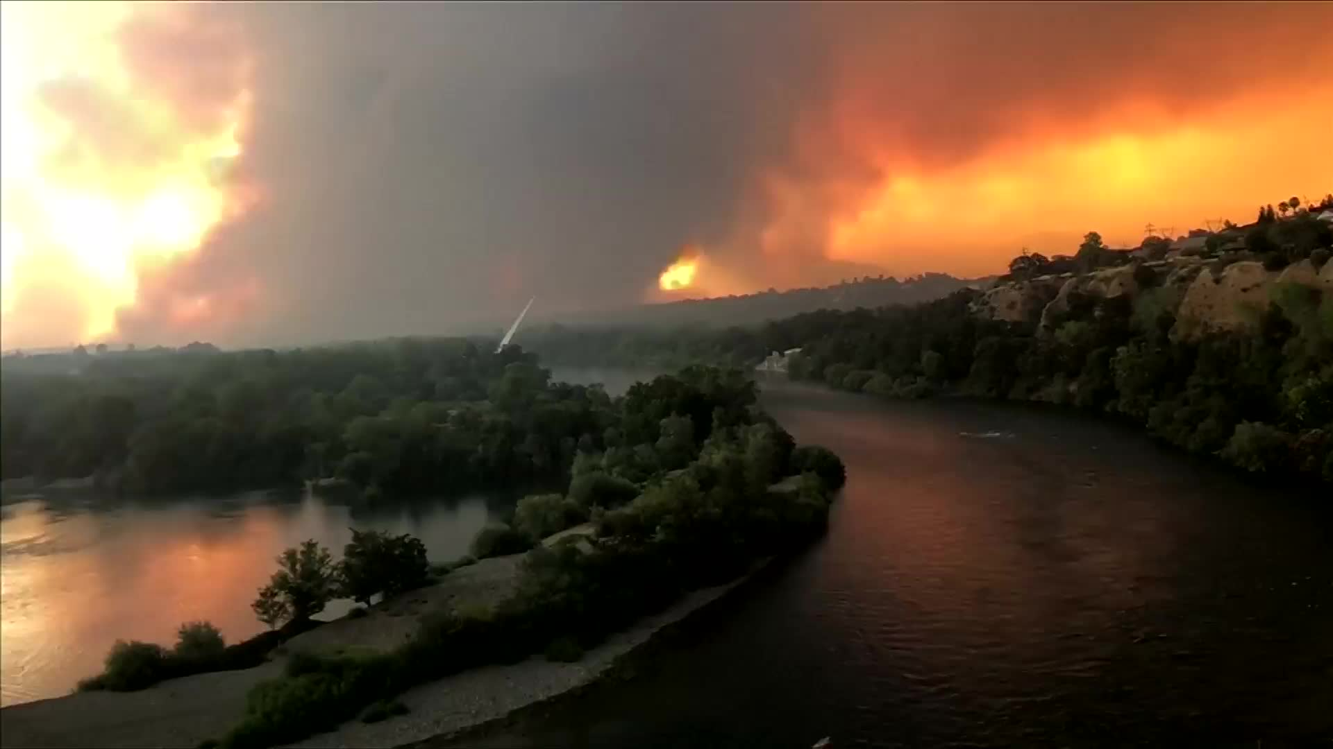 Over 3,000 people evacuated due to forest fires in California