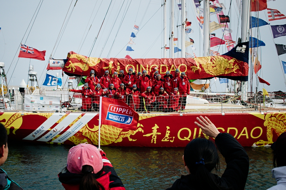 Qingdao wins final stage of Clipper yacht race