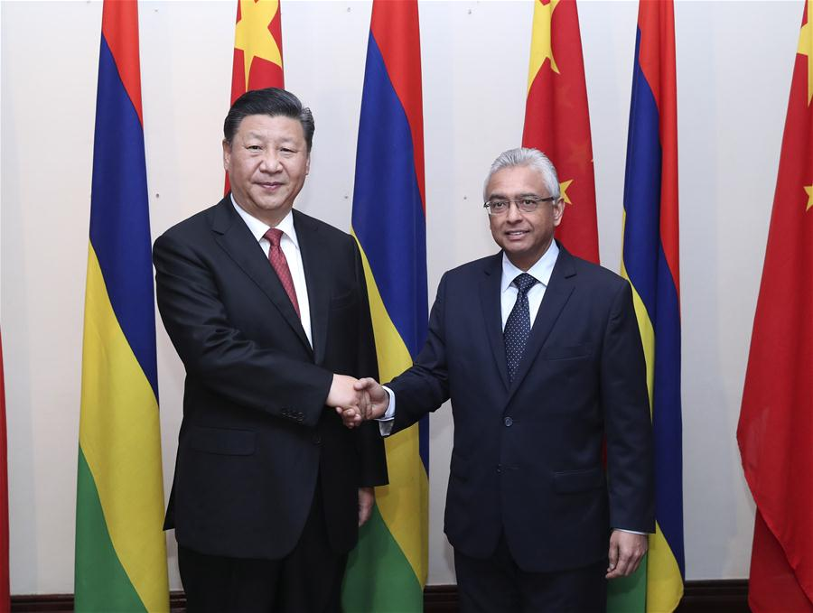 Xi meets Mauritian prime minister on bilateral ties