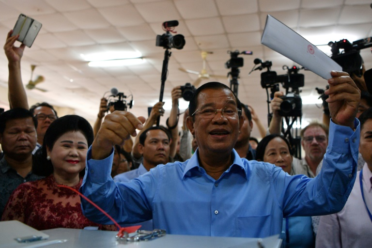 Cambodian PM's ruling party wins majority vote in election