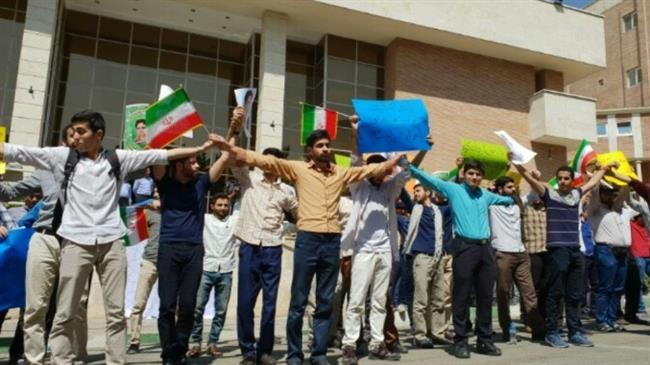 Iranian students rally against IAEA inspections of universities