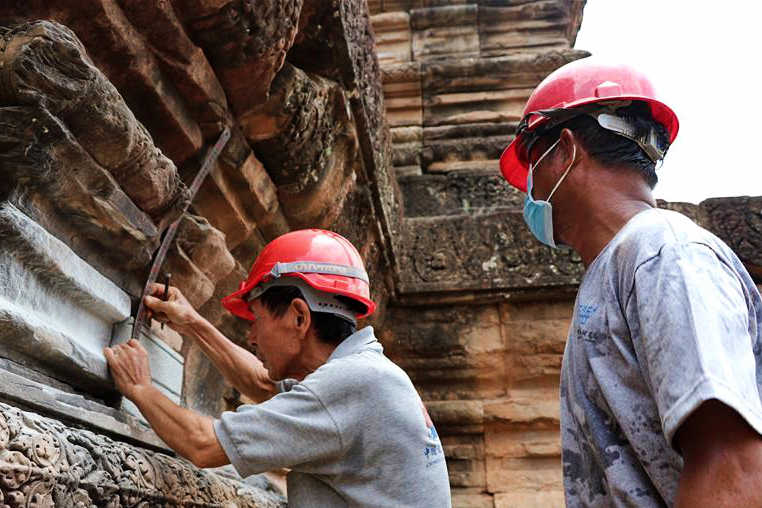 Chinese help restore Angkor buildings in Cambodia