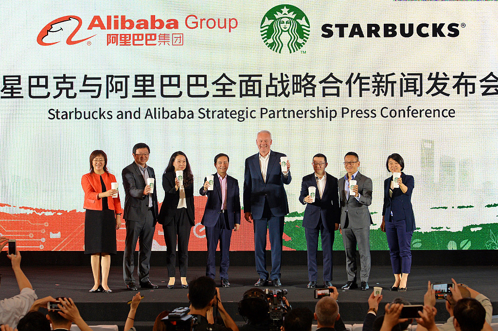 Starbucks and Alibaba join forces as China coffee war brews