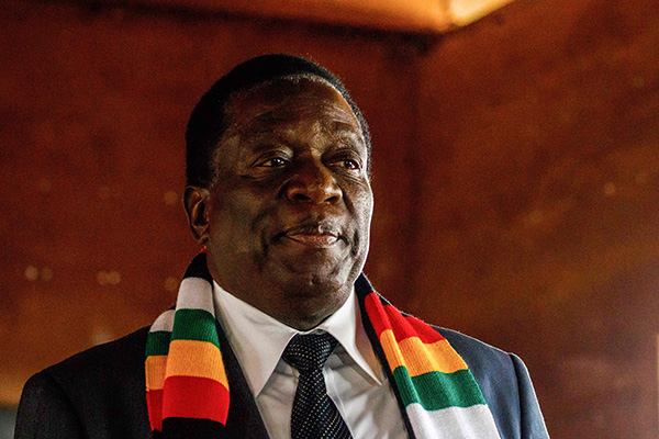 "Zimbabwe's Mnangagwa ""humbled"" after elected to second term as president"