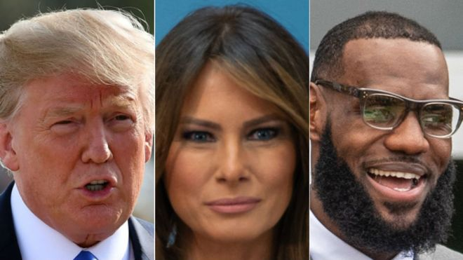 US first lady has kind words for LeBron James after Trump insults