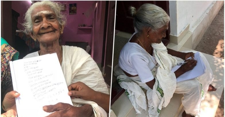 96-year-old woman appears for literacy exam in Southern India