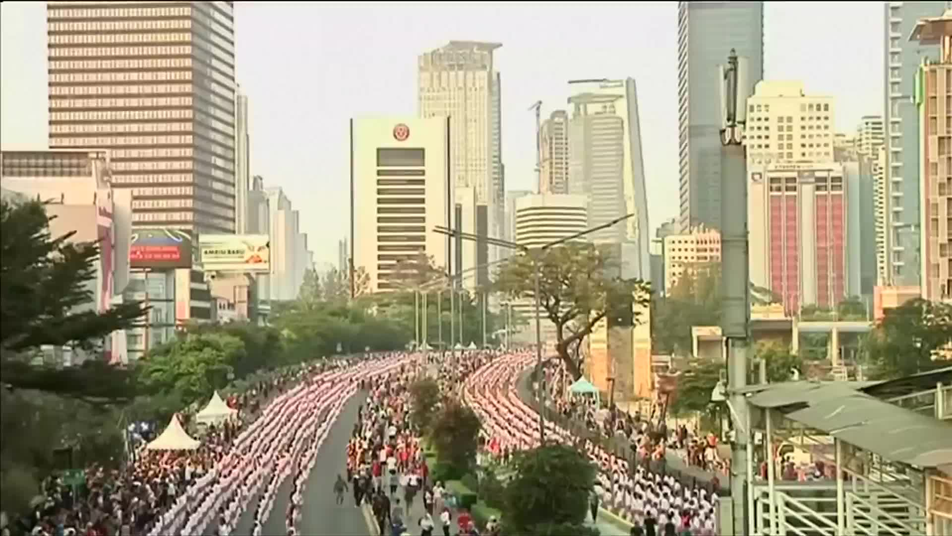 Over 65,000 revelers danced in a Guinness World Record attempt