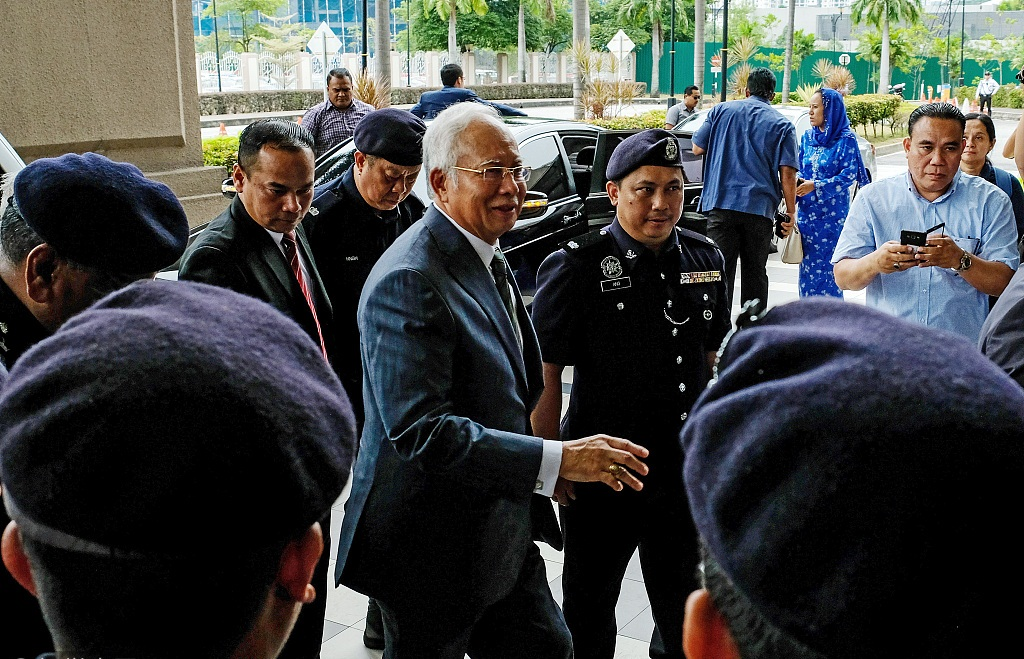 Former Malaysian PM Najib slapped with money-laundering charges