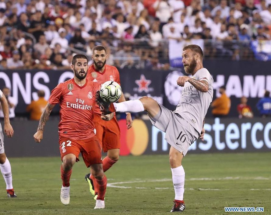Real Madrid wins over AS Roma in International Champions Cup match