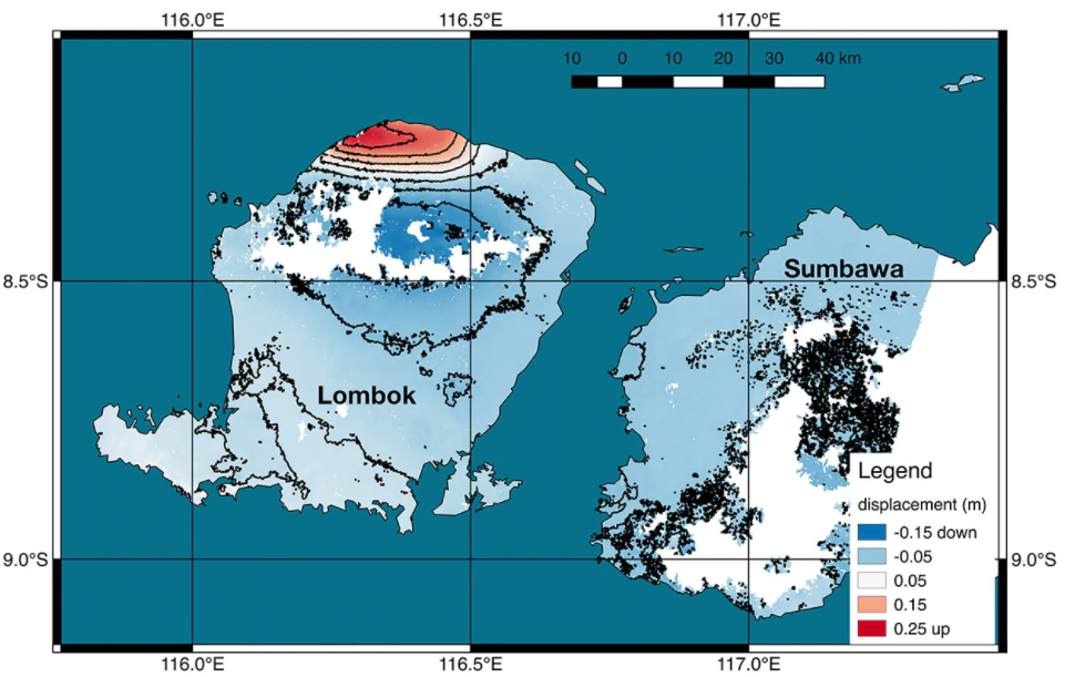 New satellite map reveals ground deformation after Indonesian earthquake